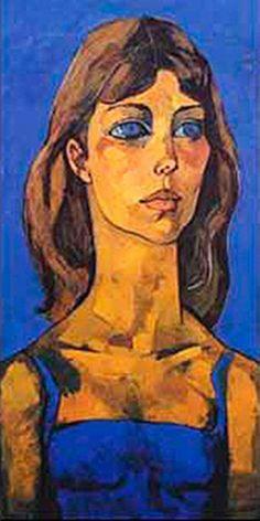 Retrato de Carolina de Monaco by Oswaldo Guayasamin