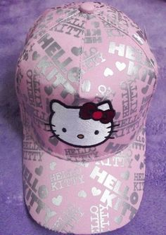 e4847acdb Baseball cap- my lil sis would love this! Hello Kitty Crafts, Hello Kitty
