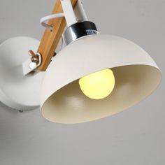 Kaufen (EU Lager)Wandleuchte Industrie Stil Weiß 1-Flammig mit Günstigste Preis und Gute Service!