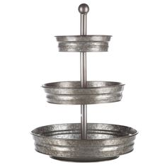 Get Galvanized Metal 3-Tier Tray Stand online or find other Trays products from HobbyLobby.com