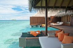 The Ayada Resort in the Maldives is without a doubt one of the most beautiful places on earth. Ayada is one of the newest jewels in the Maldives and situated on Vacation Places, Dream Vacations, Vacation Destinations, Bungalow Resorts, Overwater Bungalows, Island Resort, Oh The Places You'll Go, Hotels And Resorts, Beach Resorts