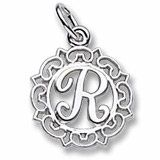 Rembrandt Charms Letter R Charm, Sterling Silver