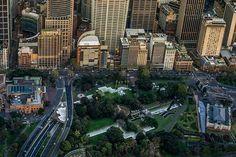 Jonathan Jones' barrangal dyara marks the footprint of the 19th Century Garden Palace building in Sydney #art #design #australia #landscape