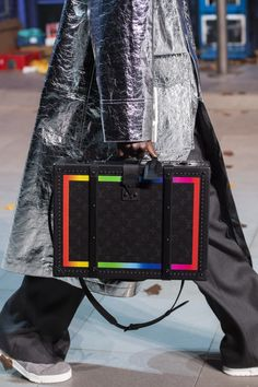 See All of Virgil Abloh's Fall 2019 Sneakers and Accessories for Louis Vuitton - Fashionista Men Fashion Show, Latest Mens Fashion, Fashion Bags, Men's Fashion, Fashion Menswear, Satchel Handbags, Louis Vuitton Handbags, Louis Vuitton Hombre, Virgil Abloh Louis Vuitton