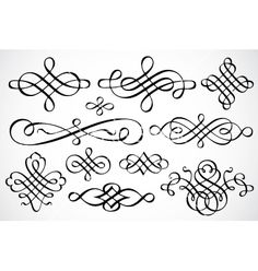 Swirl ornaments vector 93524 - by vectormikes on VectorStock®