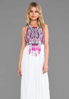 Mara Hoffman Mirror Embroidery Maxi Dress in White