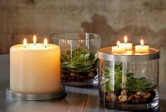 #PartyLite 3-Wick Pillar Candles add 100+ hrs of glow and fragrance to your home!
