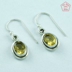 SilvexImages 925 Sterling Silver Citrine Stone Stunning Earrings 5130 #SilvexImagesIndiaPvtLtd #DropDangle