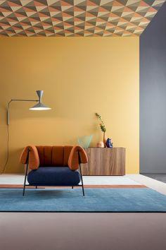 Fabric armchair with armrests TIRELLA by Bonaldo