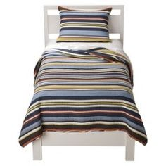 Sheringham Road Sports Fan Quilt Set - Full/Queen, Multicolored Blue Off-White Brown Kids Bedding Sets, One Bed, Quilt Bedding, Boy Bedding, Queen Quilt, New Room, Child's Room, Quilt Sets, Kid Beds