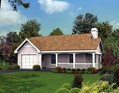 480 sq ft--FP-- washer to go in garage- garage does not lead directly to house---Cottage   Country   Ranch   House Plan 87813