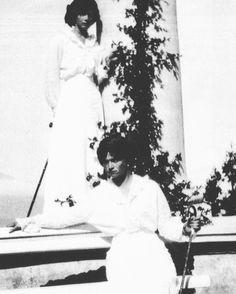 Grand Duchesses Olga and Tatiana of Russia in Crimea c. 1914. by historyofromanovs