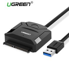 The Ugreen Sata to USB Adapter Cable Hard Disk Driver SSD Sata HDD Converter provides a convenient way to add portability to a SATA HDD. Simply connect the USB cable to the hard drive, then you can enjoy a universal USB output at ultra fast speed. Computer Deals, Computer Gadgets, Electronics Gadgets, Tech Gadgets, Ios, Computer Architecture, Digital Cable, Cable Modem, Hard Disk Drive