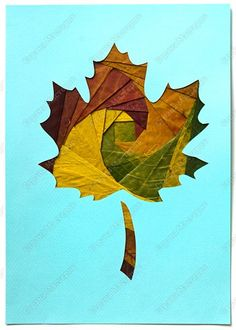 Iris-folding of autumn leaves | Country Masters (from Russia ... quite a few teachers) ... tutorial (translated with Google) and photos ... This is gorgeous with fairly fresh leaves. No tips for keeping colors except not to choos the burgundy leaves as they will turn brown ,,,