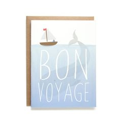 Bon Voyage Card by FablePaperCo on Etsy Bon Voyage Cards, Papers Co, Paper Goods, Snail Mail, Unique Jewelry, Handmade Gifts, Nautical, Prints, Inspiration
