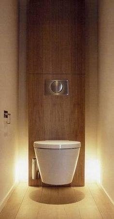 ou alors pour les toilettes du bas vous faites ca! c'est trop beau! … or so for the downstairs toilet you do that ! Guest Toilet, Downstairs Toilet, Small Toilet, Bathroom Interior, Modern Bathroom, Small Bathroom, Master Bathroom, Serene Bathroom, Dyi Bathroom