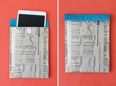 iPad Mini Case | 12 Creative Ways to Repurpose Newspaper