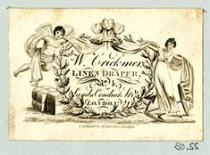 Recto DRAFT Trade card of W Crickmer, linen draper © The Trustees of the British Museum Etiquette Vintage, London History, Graphics Fairy, Online Trading, Vintage Images, Vintage Items, Calling Cards, Old London, Museum Collection