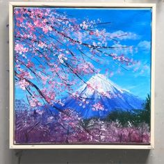 Creative Bookmarks, Canvas Painting Tutorials, Mount Fuji, Gouache Painting, Easy Paintings, Art Background, Easy Drawings, Art Education, Drawing Stuff