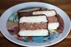 Kokosové řezy nepečené, Nepečené zákusky, recept | Naničmama.sk