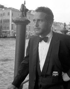 Paul Newman, Canal Grande, Venice 1963