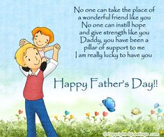 happy father's day card text