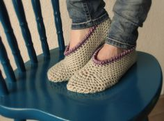 """You don't want cold feet in winter, or ever for that matter. In summer I just love walking bare feet all day long, but if I try that in winter my toes immediately start cramping up. Oh, how I detest that feeling. This crochet slippers are very easy"