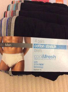 M&S 4 BRIEFS XXL ( 42-44 or 107-112cm) Cotton Stretch BNWT RRP£17 StayNEW Techno