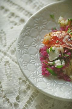 Rice, Braised Cabbage and Blood Orange Salad // Chit Chat Chomp