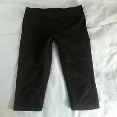 Zella Fitted Crops Black Size Small