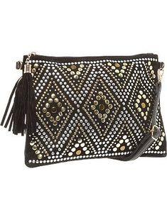 feee54f29669 Diy Clutch, Clutch Bag, Black Handbags, Purses And Handbags, Studded Clutch,