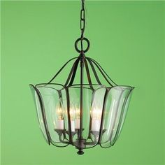 Glass Tulip Lantern - modern - pendant lighting - Shades of Light