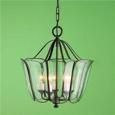 Glass Tulip Lantern - modern - pendant lighting - Shades of Light
