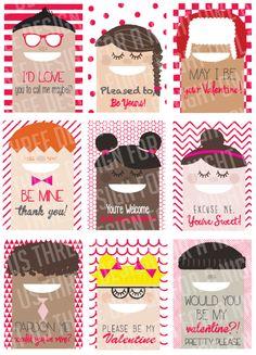 Cool Kids Valentine's Day Printables - by Just Us Three at www.anightowlblog.com
