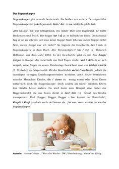 HEINRICH HOFFMANN - Biographie Arbeitsblatt zur gleichnamigen PPt ...