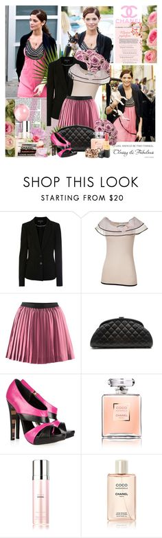 """""""Ashley Greene..."""" by purplecherryblossom ❤ liked on Polyvore featuring Ultimate, Warehouse, Valentino, H&M, Chanel and Georgina Goodman"""