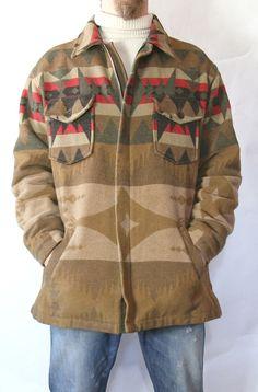 Banana Republic Cabinwear Native American Indian Wool Blend Jacket Coat M | eBay