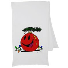 Happy Ornament Scarf - adorable scarf for the holidays!! Festive for bringing that Christmas cheer! :-)