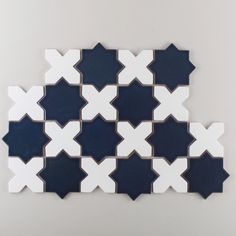 A classic tile pattern that works beautifully for both wall and flooring application. Choose in two colors on our Recycled Clay Body for your commercial project (shown here in Navy Blue and White Wash).