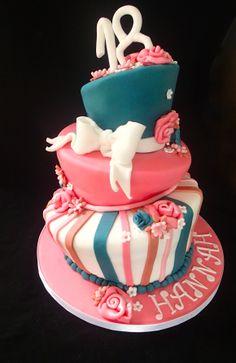 wonky funky 18th cake