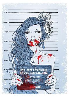 Art Nice illustration rock-posters-that-rock