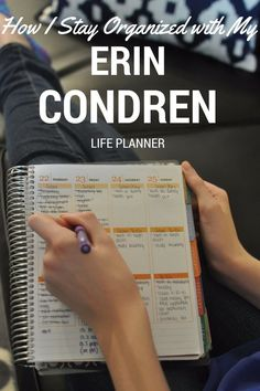 How I Stay Organized with my Erin Condren Life Planner | Love Megan June