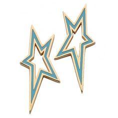 Karen Walker Star City Enamel Earrings Jewellery New Zealand's Silver Jeweller Jewellery Nz, New Zealand Jewellery, Karen Walker, Enamel, Jewels, Stars, City, Earrings, Silver