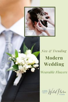 Have a look at The Barn of Chapel Hill's blog post where they're sharing with you 5 unique wearable flower ideas for you to incorporate into your wedding day. Long gone are the days of boring boutonnieres and basic mothers' corsages, wearable flowers are truly an art form. Check out the blog post to discover all the ways you can add wearable flowers into your wedding day celebration. Cake Flowers, Wedding Cakes With Flowers, Wedding Hair Flowers, Flowers In Hair, Wedding Bouquets, Special Flowers, Unique Flowers, Wedding Trends, Wedding Styles