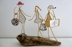 Une journée shopping entre filles - figurines en ficelle et papier : Accessoires de maison par ficelleetpapier
