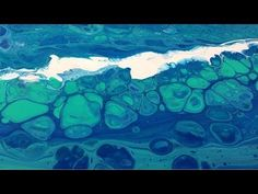 Acrylic Pour Painting: Ocean Theme With Cells Using The Simple Swipe Technique - YouTube