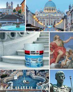 San Marco incontra i #colori di #Roma Prodotto: Antartica http://www.san-marco.com/ita/prodotti/antartica.php