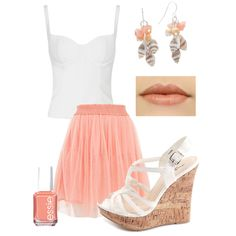Coral & White Summer Outfit 2013 by natz85 on Polyvore featuring polyvore, fashion, style, Alexander McQueen, Tokyo Doll, Charlotte Russe, Croft & Barrow, Essie and coral