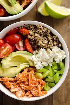Buffalo Chicken & Quinoa Veggie Bowl