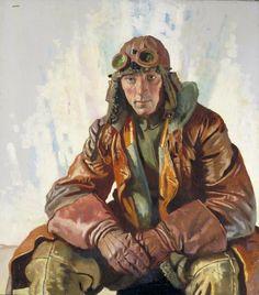NCO Pilot RFC Flight Sergeant W G Bennett (Art.IWM ART 2397)